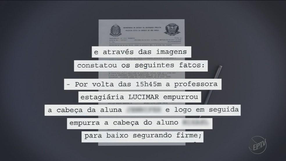 Boletim de ocorrência registrado por diretor de escola em Barretos relata comportamento agreesivo da professora (Foto: Claudio Oliveira/EPTV)