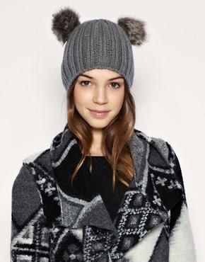 Image 1 of ASOS Furry Bear Ears Beanie