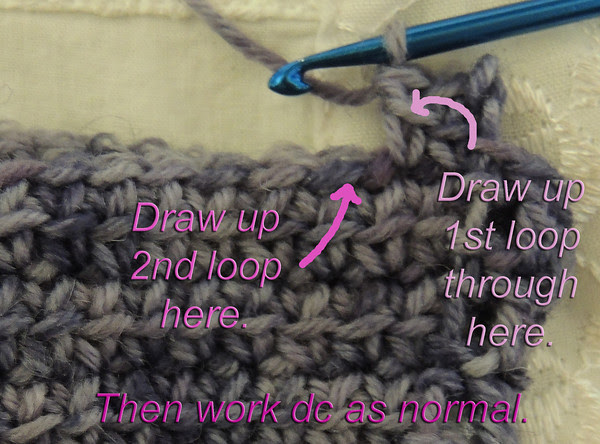 linked double crochet