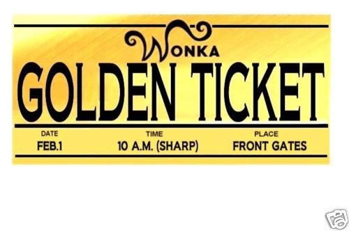 Golden Ticket Template - ClipArt Best