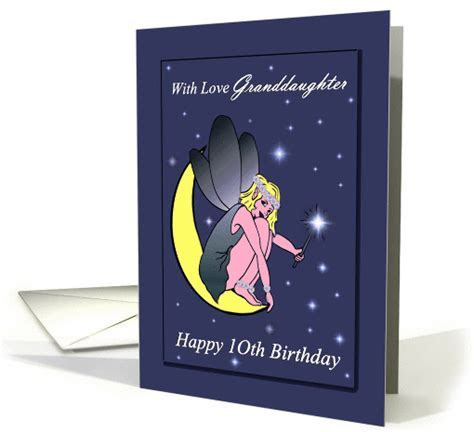 Granddaughter / 10th Birthday   Fairy on a Crescent Moon