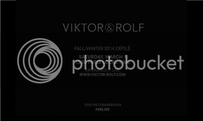 défilé Viktor & Rolf automne hiver 2014/15 livestreaming