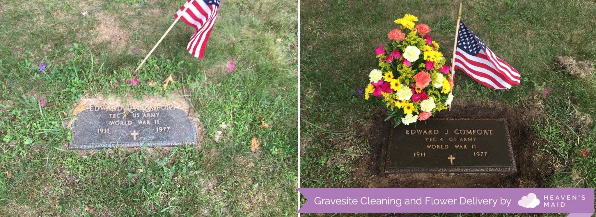 Gravesite Cleaning Flower Delivery Memorial Page Heaven S Maid