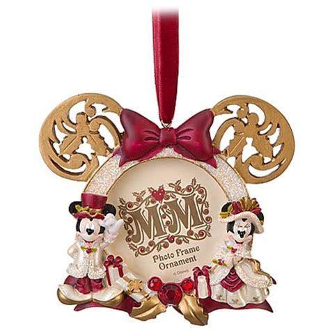 Disney Christmas Frame Ornament   Victorian Minnie and Mickey