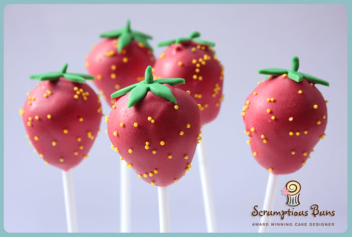 Strawberry Cake Pops by Scrumptious Buns (Samantha)