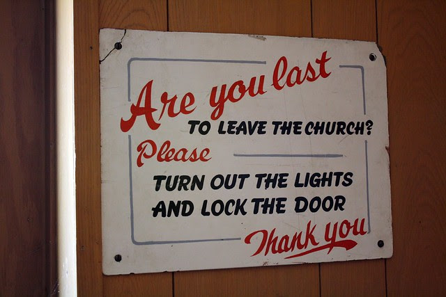 Are you last to leave the church?