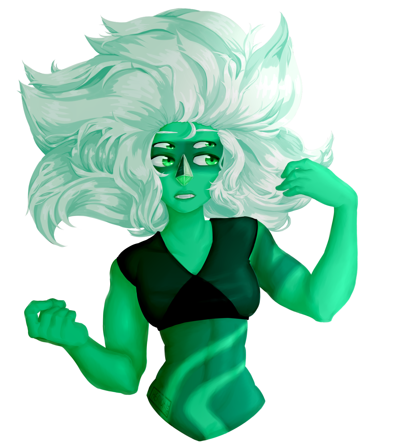 4 versions of Malachite because I couldn't make up my mind. So we have normal, darklit, under the sea, and under the sea darklit! :I