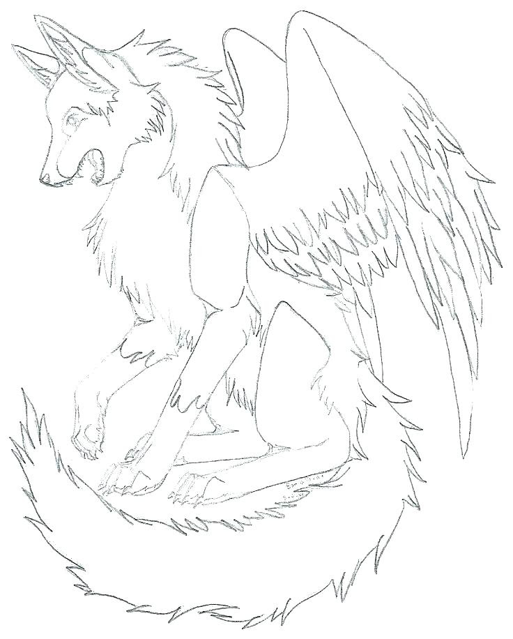 Grey Wolf Coloring Pages at GetDrawings | Free download