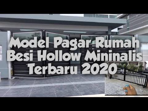 contoh pagar hollow minimalis - jual model pagar besi