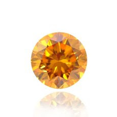 0.25 quilates, Fancy Vivid Yellow Diamond Naranja, Ronda, VS2