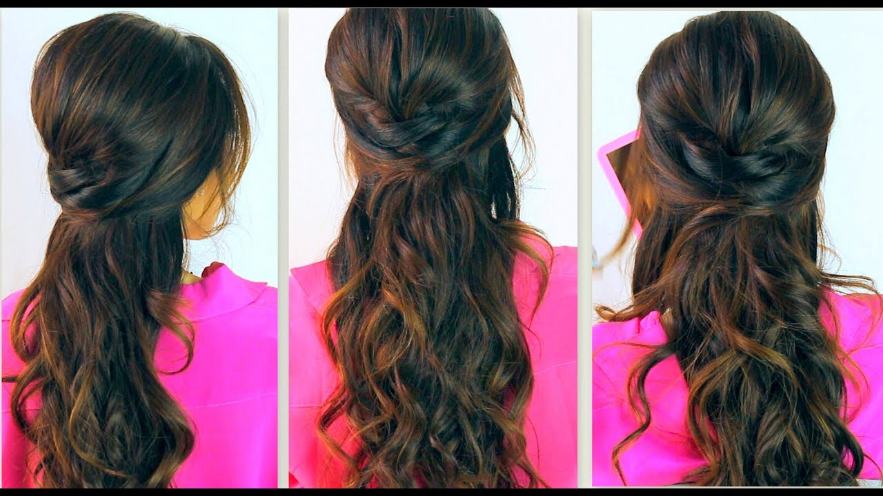 Cool Hairstyle 2014 Curly Hairstyles Half Up Half Down To The Side