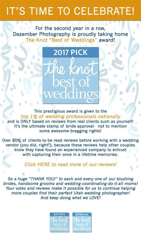 "Awarded The Knot ""Best of Weddings"" 2017!   Dezember"