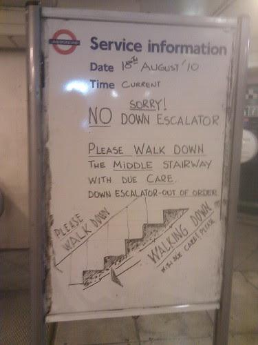 TFL whiteboard @ Maida Vale  by whatleydude