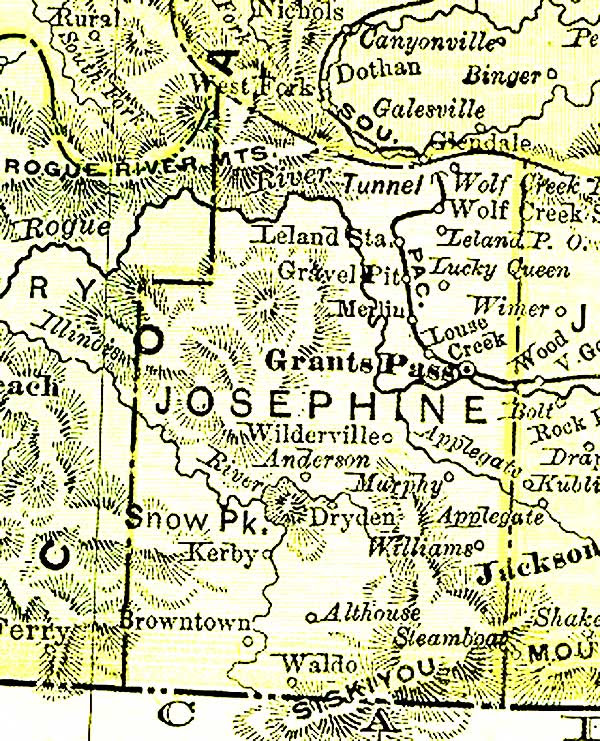 Gold In Josephine County 1870 Oregon Gold