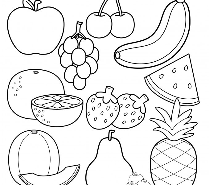 Printable Fruit Coloring Pages Coloring Me | Coloring Pages for ...