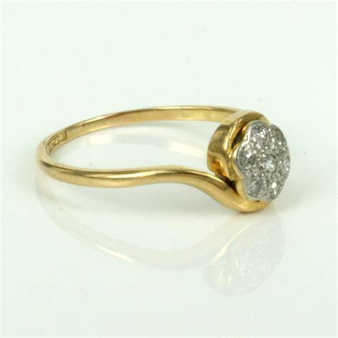 Buy Antique 18ct & platinum diamond cluster ring Antique