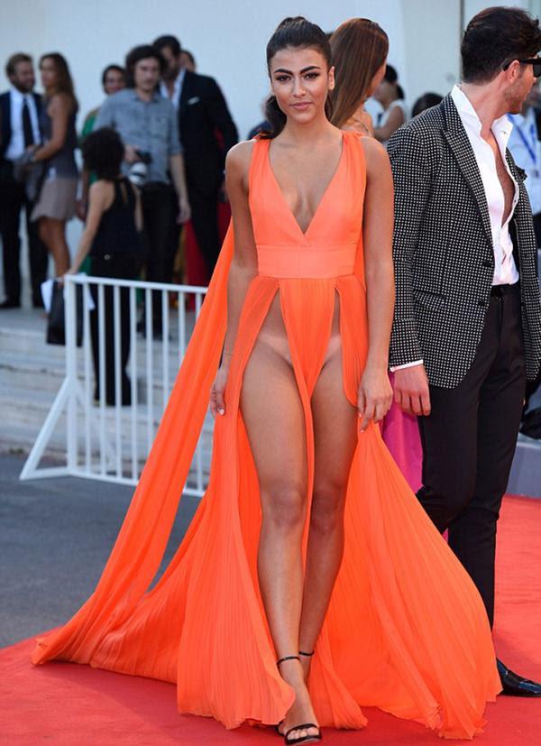 Giulia Salemi, sin ropa interior en el Festival de Venecia (Shutterstock)
