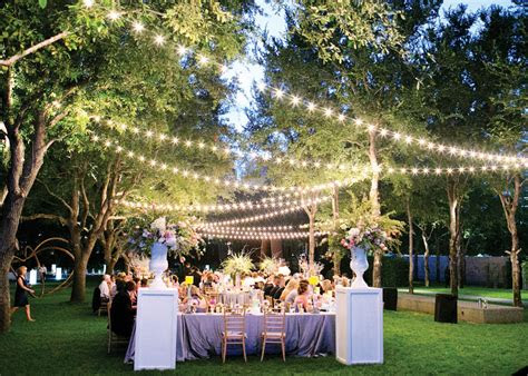 beautiful lighting ideas   outdoor wedding