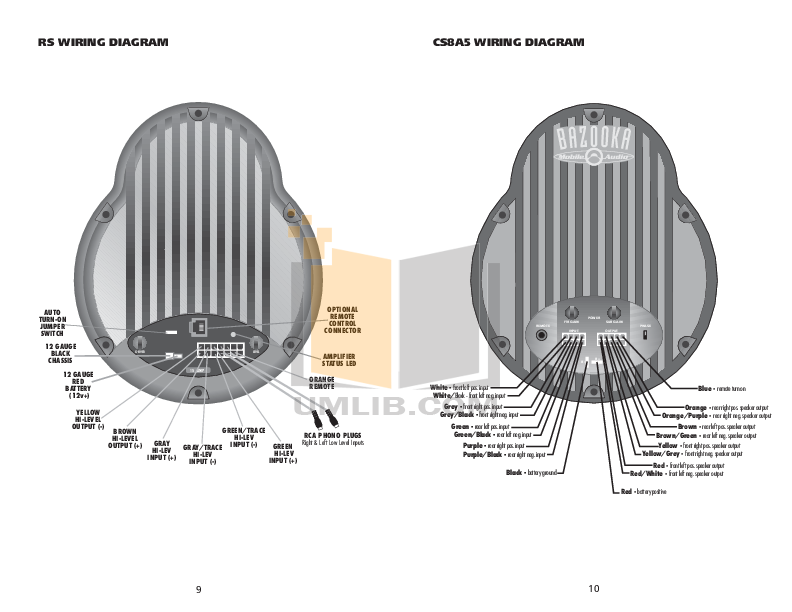 Bazooka El Wiring Diagram