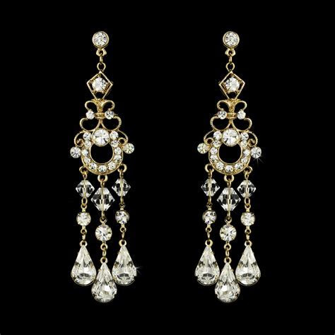Swarovski Bridal Chandelier Earrings   Elegant Bridal Hair