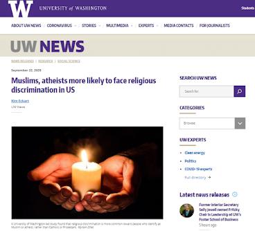 Hoa Kỳ: Hồi giáo và vô thần bị phân biệt đối xử!