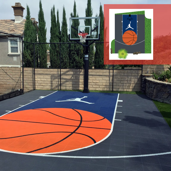 Design Your Own Court Design Backyard Basketball Court Design