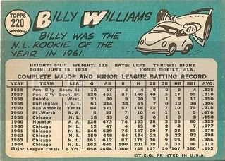 #220 Billy Williams (back)