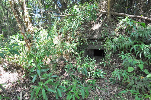 舊蘇花公路旁的碉堡射口