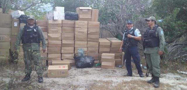 Operação realizada no litoral do Piauí resulta em grande apreensão de cigarros contrabandeados