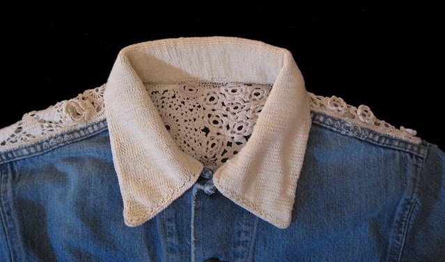 knitted collar front