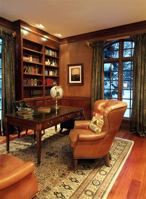 stylish  dramatic masculine home office design ideas