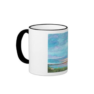 Good Morning Coffee Tea Cup Original Abstract Art Mug