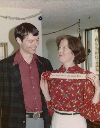Irene and Tom at Christmas