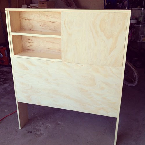 Boys headboard in progress. Other side is identical, but in reverse.