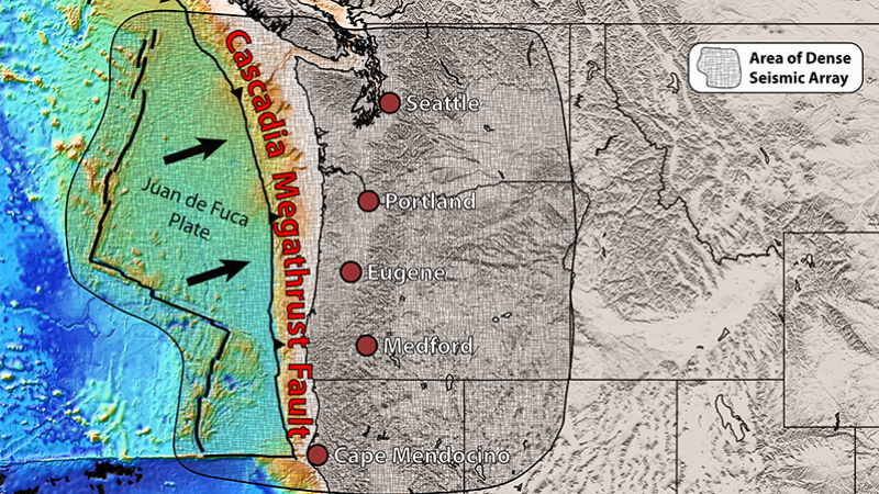 Research Sheds New Light On Tensions Along Cascadia Fault