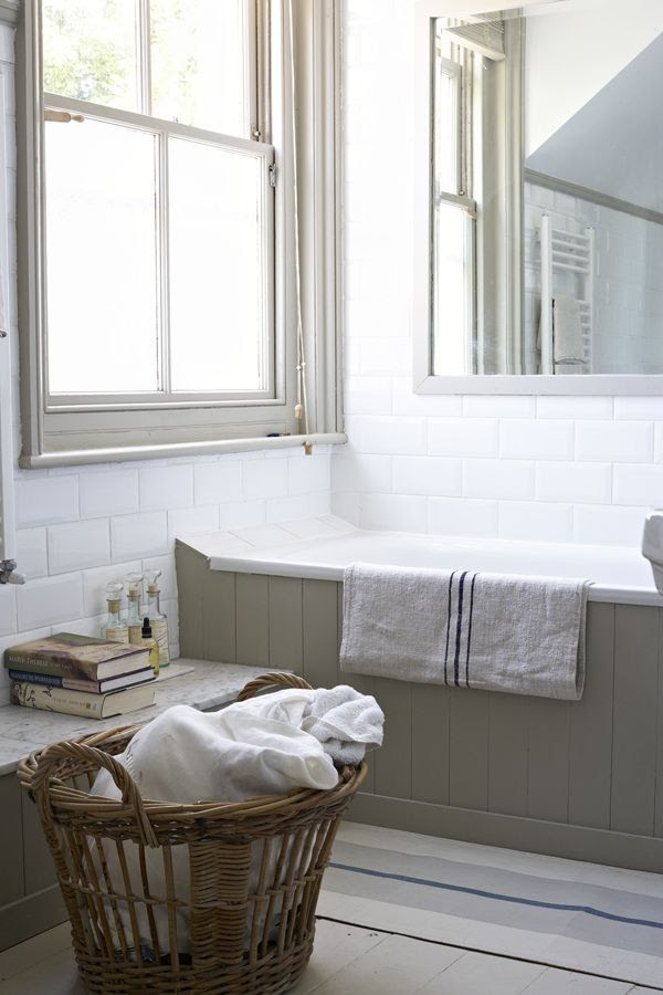 Farrow and Ball French Gray in Modern country bathroom