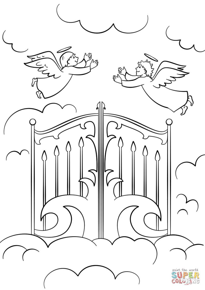 heaven gates coloring page
