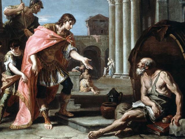 Είχε δάσκαλο τον Αριστοτέλη, αλλά επιρροές και από άλλους φιλόσοφους