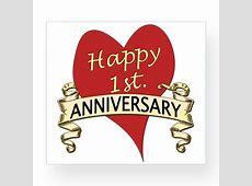 Happy 1st. Anniversary Wine Label   July Sales   Anniversary, Anniversary greeting cards