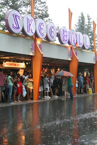 Skee Ball and Rain