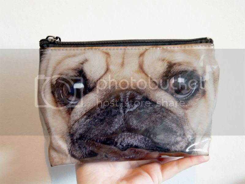 Pug makeup bag, beauty bag, toiletry bag, wash bag, dog, pet, cute