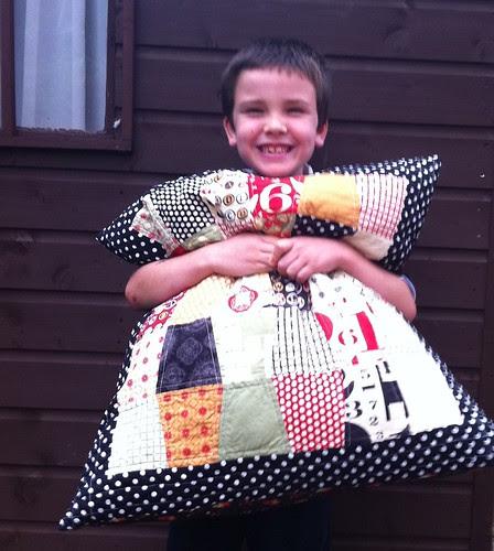 My Big Boy with his cushion