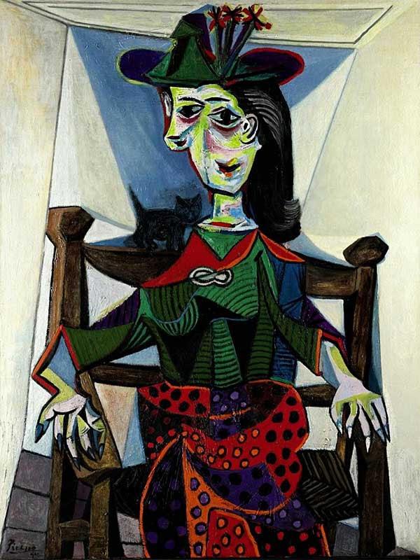 Пабло Пикассо Дора Маар с кошкой