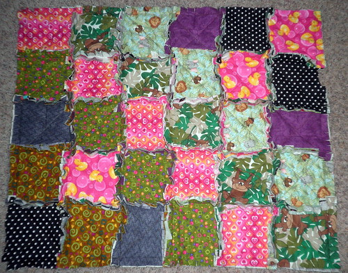 Rag Quilt for Baby #3 - pre wash