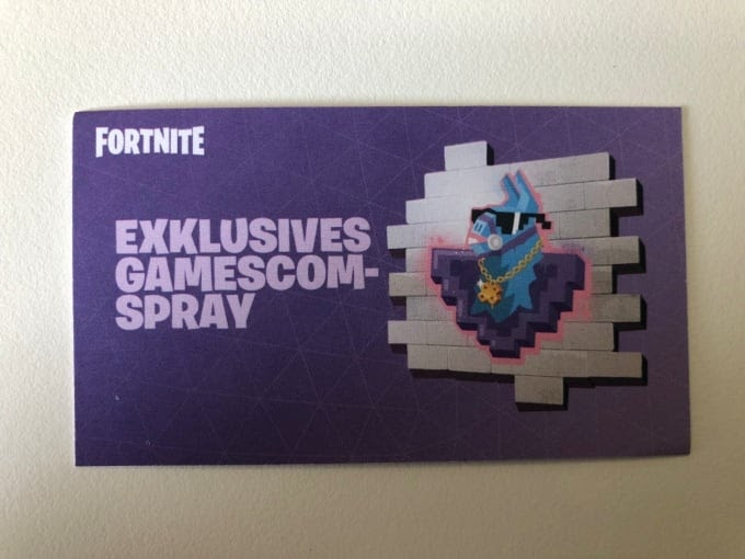Gamescom Fortnite Spray 2500v Bucks Fortnite Ger Amino