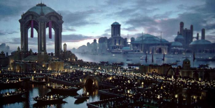 Funeral at dawn in REVENGE OF THE SITH.