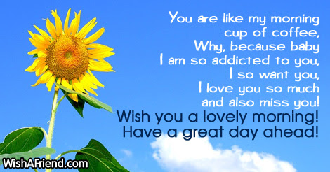 Good Morning Message For Boyfriend You Are Like My Morning Cup