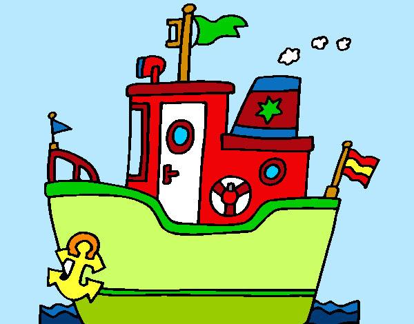 Dibujo De Barco Con Ancla Pintado Por Queyla En Dibujosnet El Día