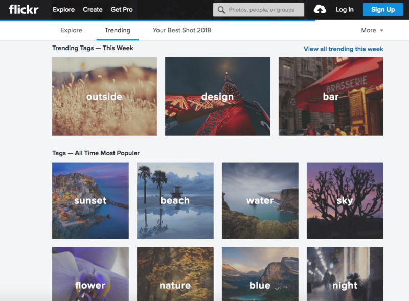 flickr homepage free stock