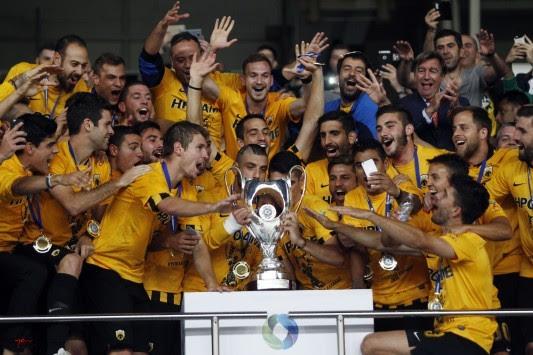 """Κύπελλο Ελλάδας: Κιτρινόμαυρος θρίαμβος! Η ΑΕΚ """"γλέντησε"""" τον Ολυμπιακό"""